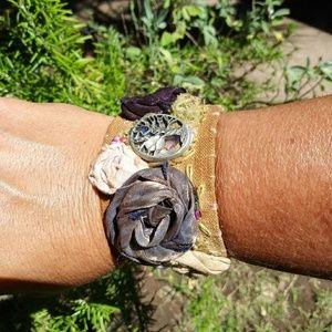Handmade Boho cuff bracelet